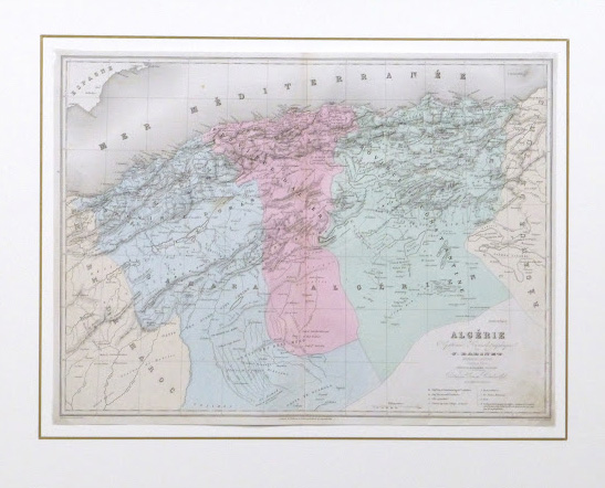 Map of Algeria, 1859-matted-9488K