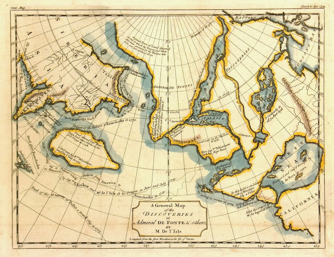 Map Alaska Discoveries, 1754-main-K4603