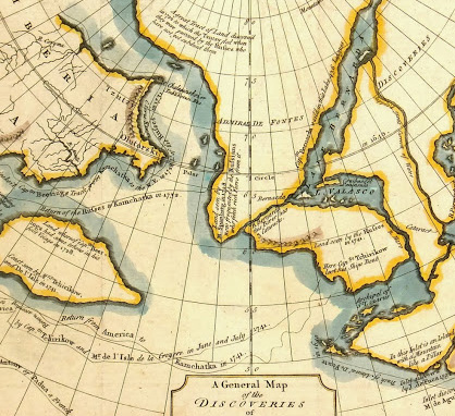 Map Alaska Discoveries, 1754-detail-K4603