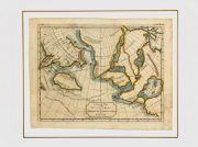Map Alaska Discoveries, 1754-matted-K4603