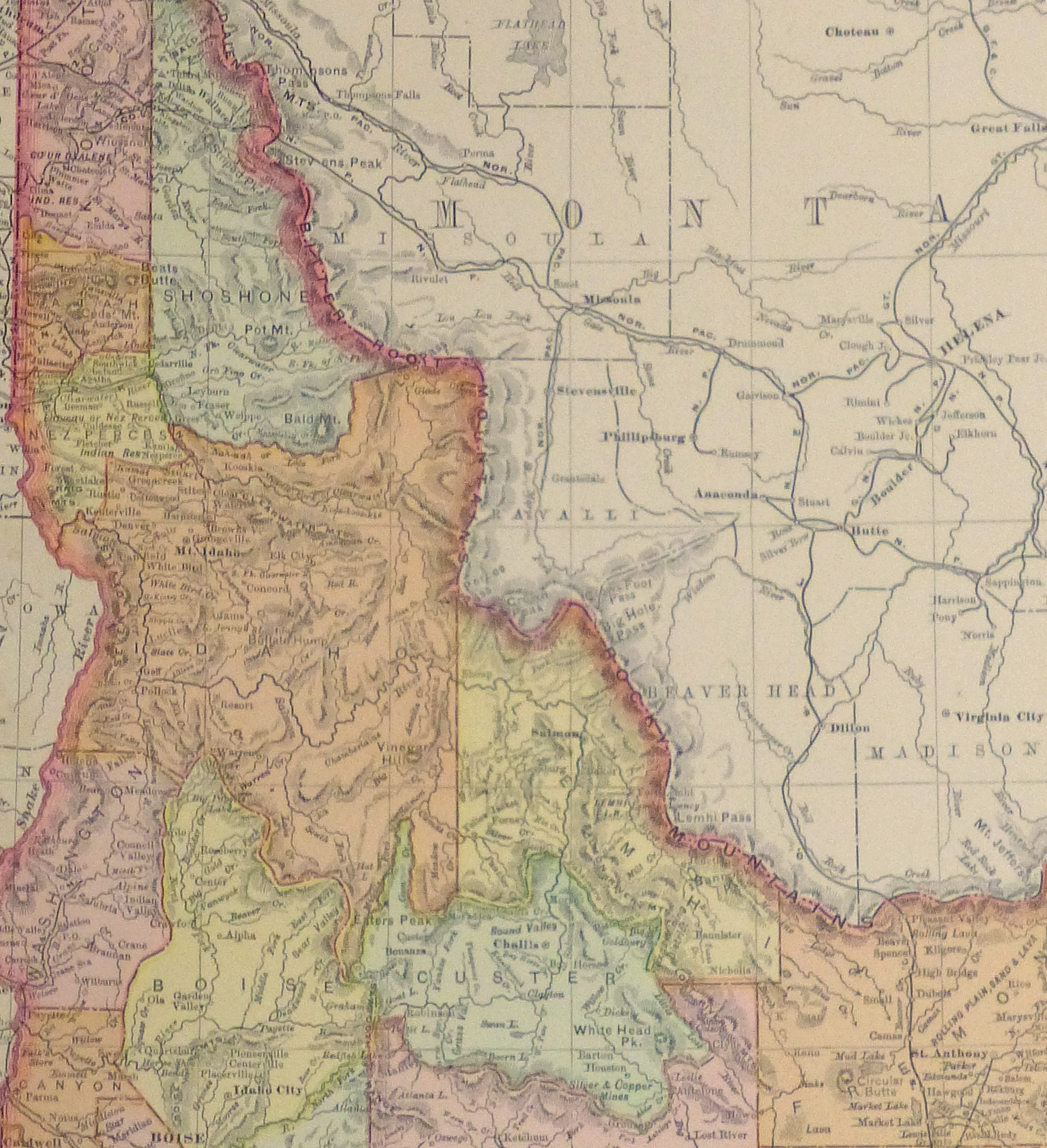 Idaho Map, 1901-detail-kb1586