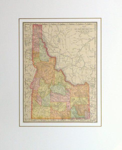 Idaho Map, 1901-matted-kb1586