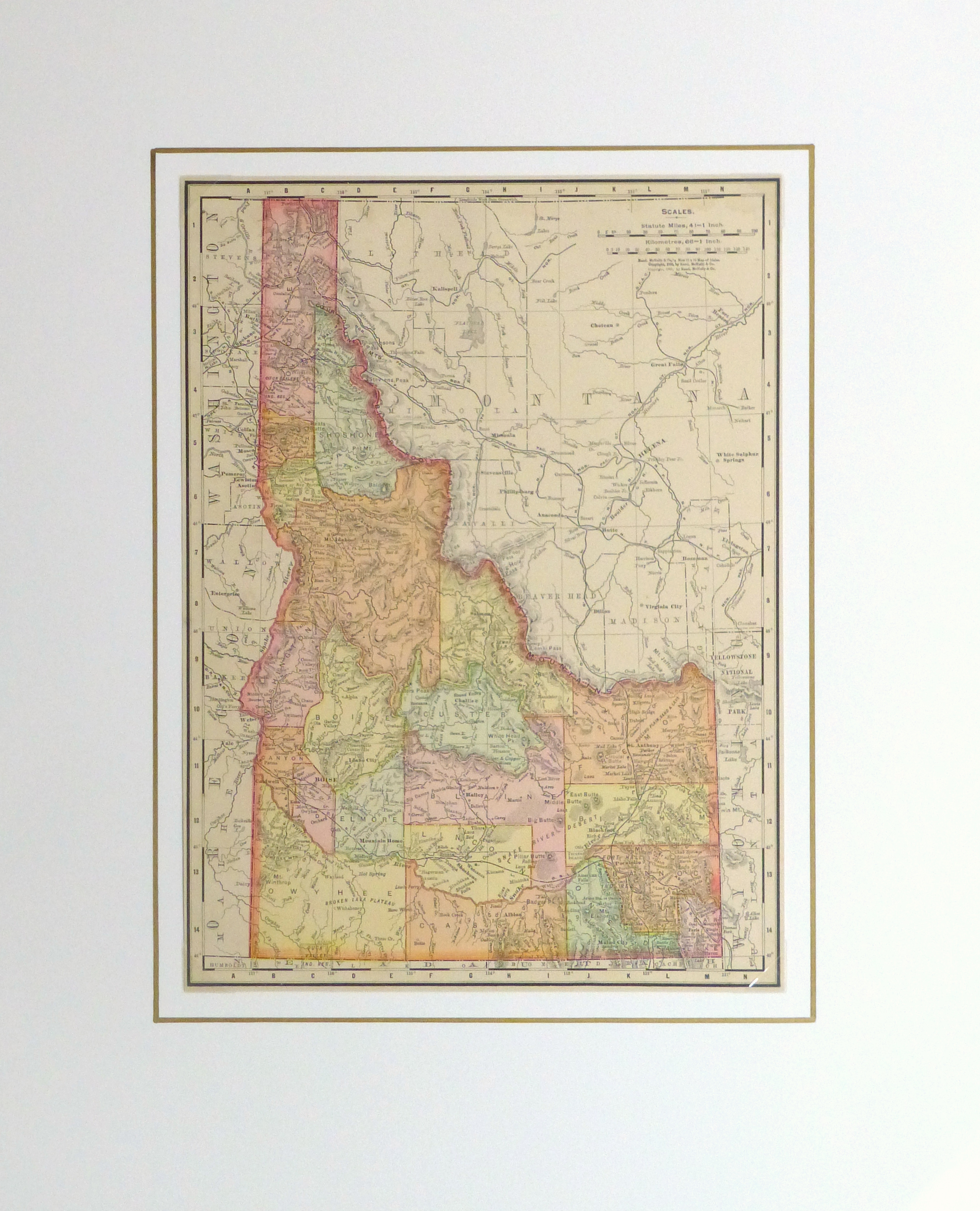 Idaho Map, 1901-matted-kb1586
