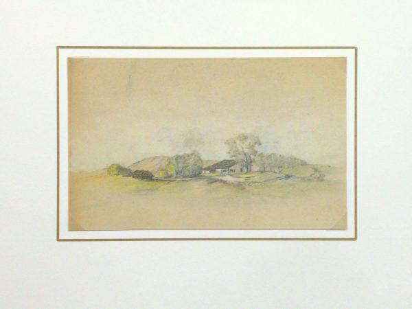 Country Drawing, Circa 1910-matted-kla1721