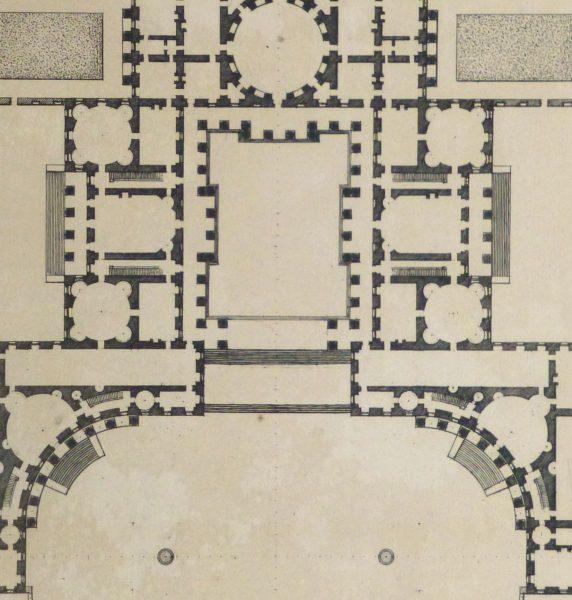 Italian Palace Floor Plan, Circa 1780-detail-kla2619