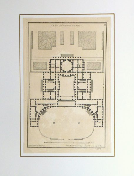 Italian Palace Floor Plan, Circa 1780-matted-kla2619