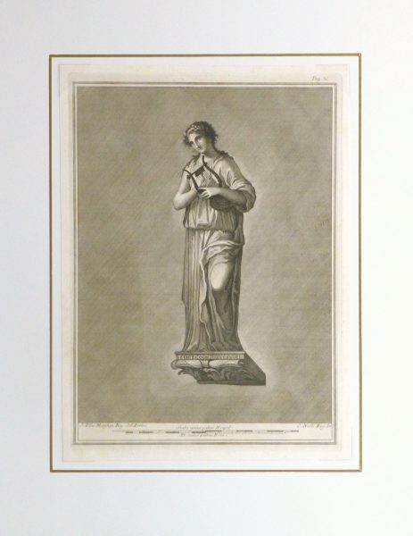 Classical Engraving, Circa 1770-matted-kla2621