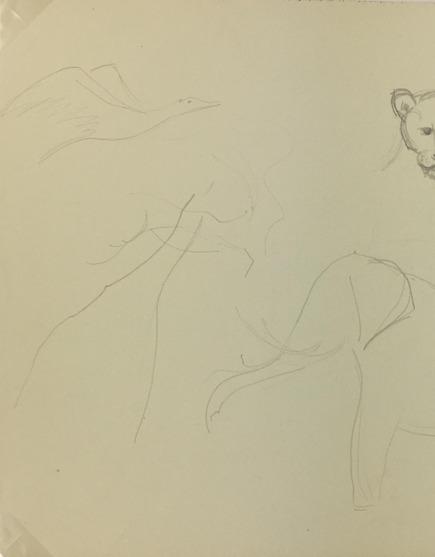Animals Original Art - Animals, Maurice Porte, c.1990