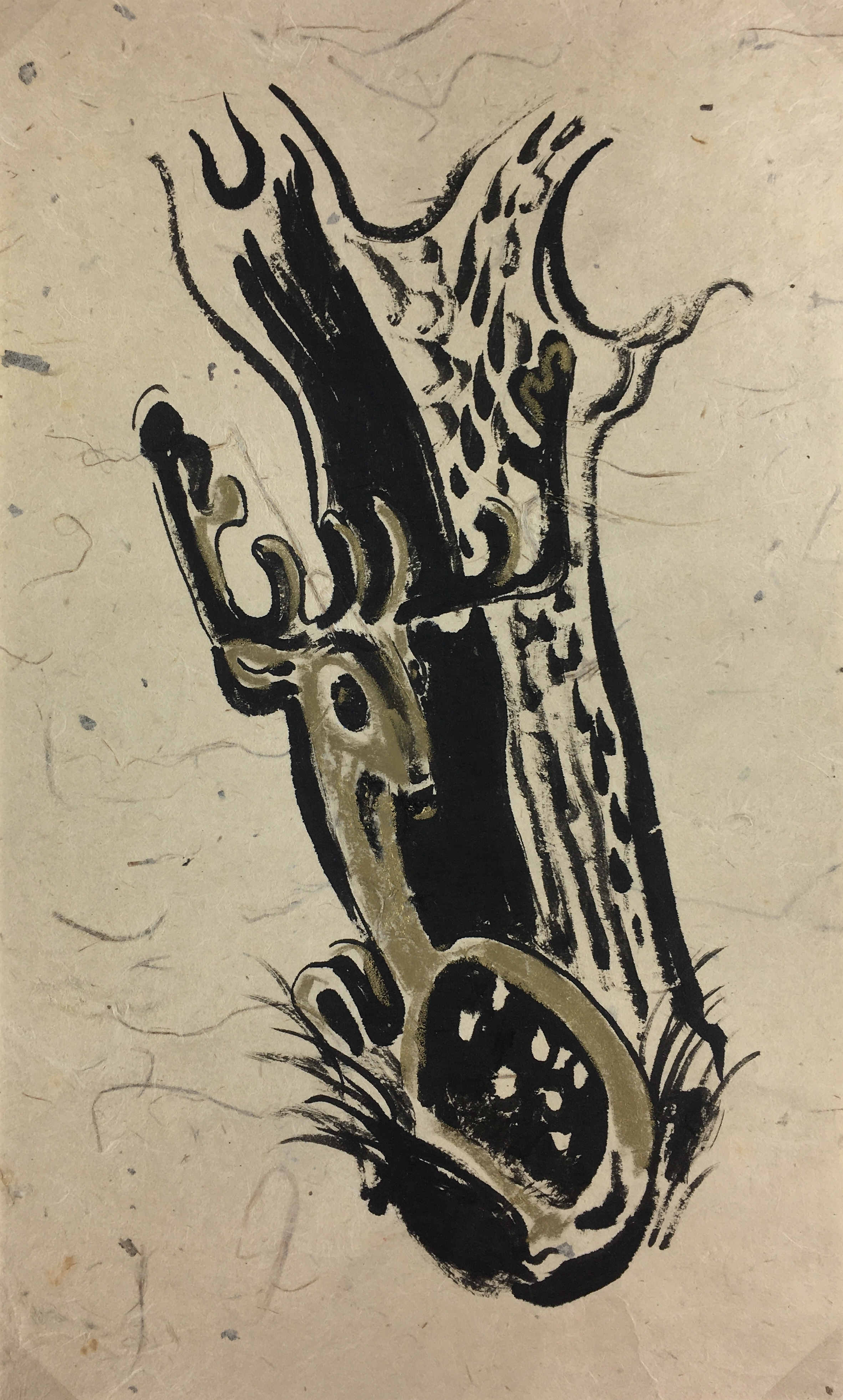 Animals Original Art - Abstract Deer, Wulfarht, c.1950
