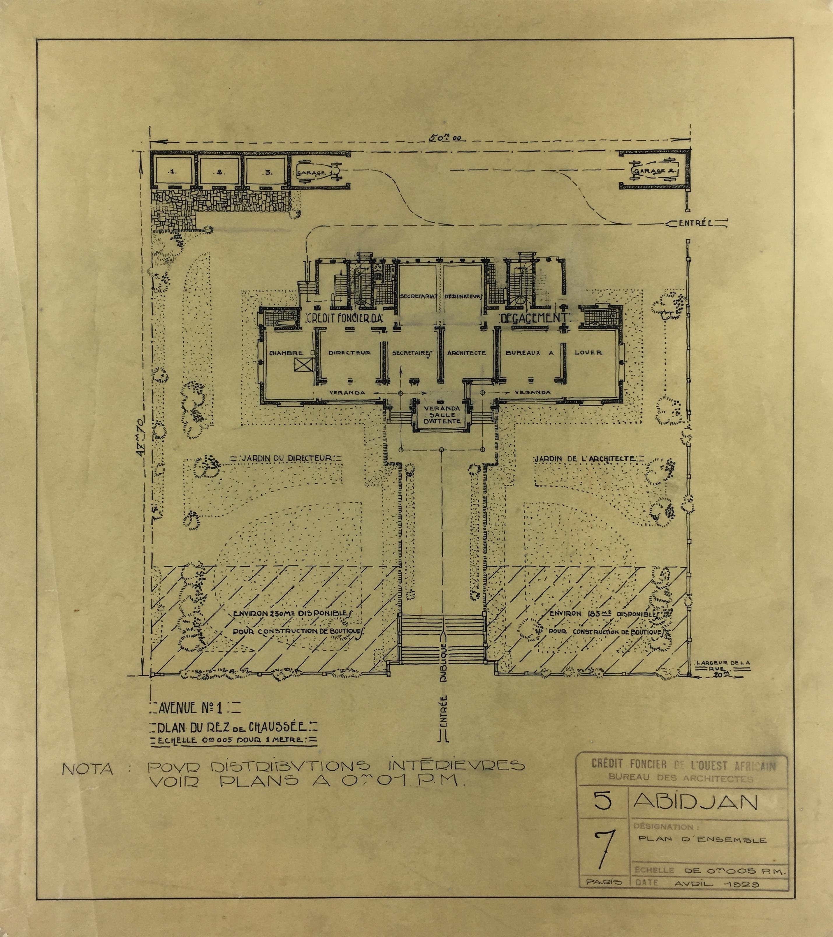 Architecture Original Art - Architectural, Paris, 1929