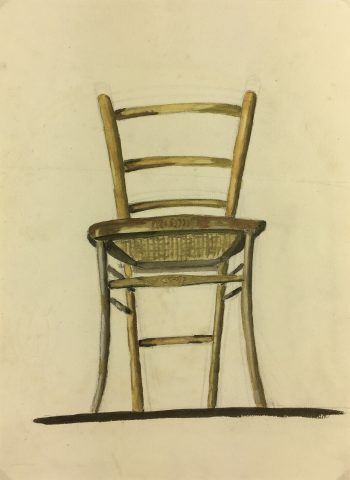 Architecture Original Art - Chair, French, c.1950
