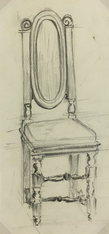 Architecture Original Art - Drawing - French Furniture, c.1970
