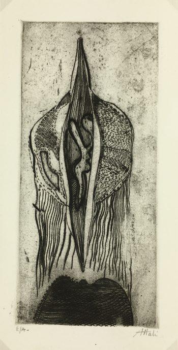 Black & White Modern Original Art - Emergence, Jean Attali, c.1960