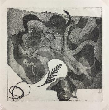 Black & White Modern Original Art - Etching - Abstract, 2000