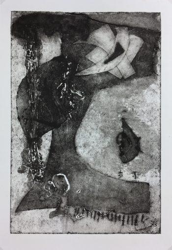 Black & White Modern Original Art - Abstract, Kisime Varner, c.1990