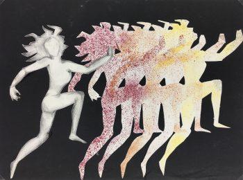Black & White Modern Original Art - Dancers, French, c.1970