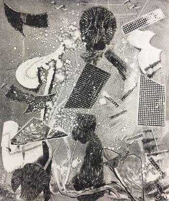Black & White Modern Original Art - Abstract, Kismine Varnier, 2006