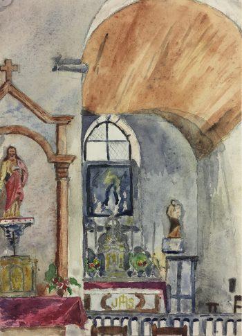 Churches & Chapels Original Art - Church Steps, Sali, c.1940