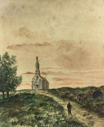 Churches & Chapels Original Art - Country Chapel, Renée, La Bealle, c.1920
