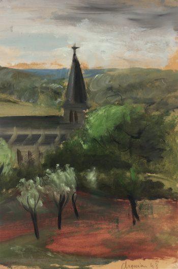 Churches & Chapels Original Art - Church, Arquiau, 1943