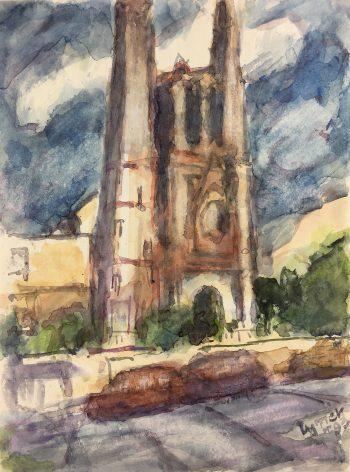 Churches & Chapels Original Art - Cathedral, Zymek, 1993