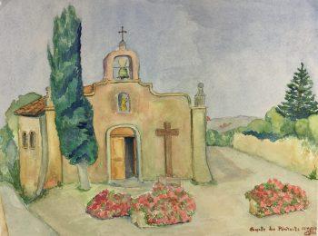 Churches & Chapels Original Art - Chapelle des Pénitents, Grimaud, 1990