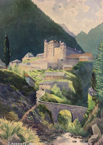 Churches & Chapels Original Art - Chateau Fort, J. Aucante-Roy, c.1920