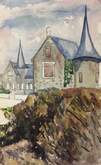 Coastal France Original Art - Coastal Brittany, G Jessing, 1918