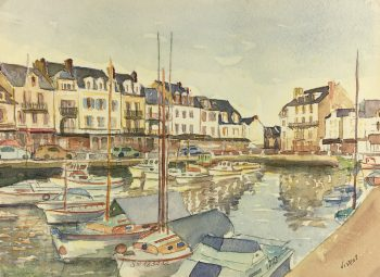 Coastal France Original Art - Belle-Ile-en-Mer, Vivent, c.1980