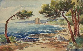 Coastal France Original Art - Coastal France, A.C., c.1940