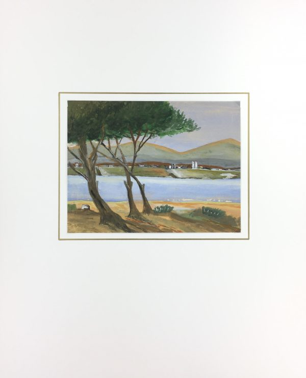 Coastal France Original Art - Coastal France, Acrylic, c.1960