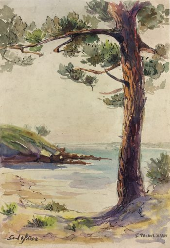 Coastal France Original Art - St Palais sur Mer, Lefevre, 1925