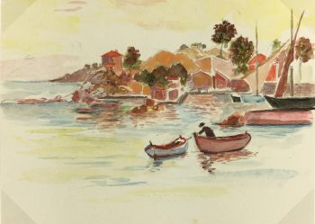Coastal France Original Art - Beaulieu sur Mer, A.M., c.1960