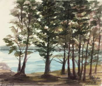 Coastal France Original Art - Morbihan, France, M. Kessler, 1949