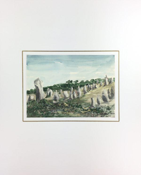 Coastal France Original Art - Carnac, France, M. Kessler, 1949