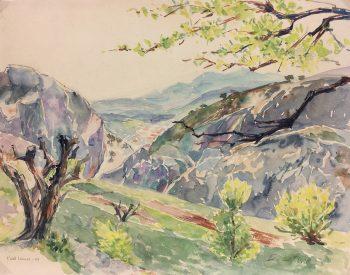 Coastal France Original Art - Evenos, G. Lefevre, Côte d' Azur, 1958