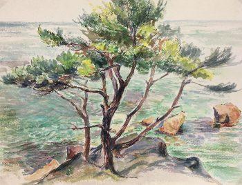 Coastal France Original Art - Côte d' Azur, G. Lefevre, 1968