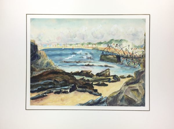 Coastal France Original Art - Riviera, Magnard, c.1950