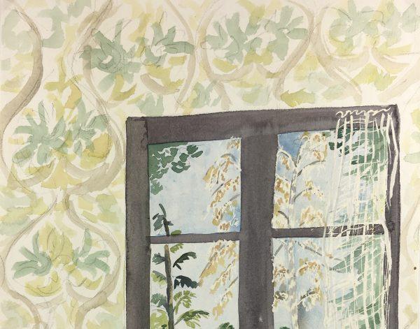 Coastal France Original Art - Garden View, c.1950
