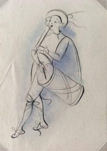 Dance Original Art - Musician, Belgium, c.1930