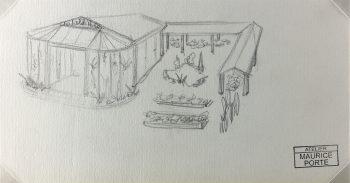 Drawings Original Art - Greenhouse, Maurice Porte, c.1990
