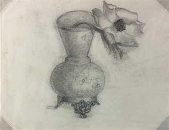 Drawings Original Art - Flower, (German), c.1890