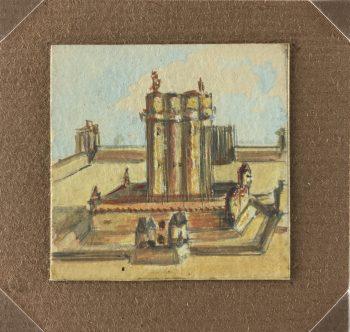 Europe Original Art - Miniature painting, Suzanne Musson, 1930