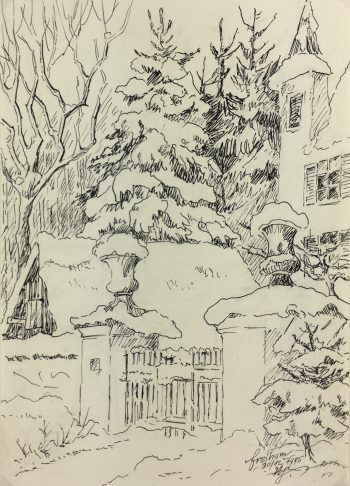 Europe Original Art - Pen & Ink - Freiham, 1995