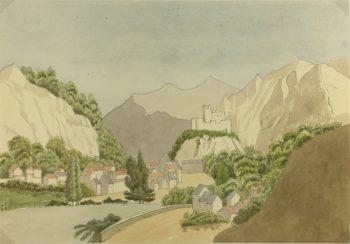 Europe Original Art - Castle Landscape, c.1920