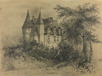 Europe Original Art - Hidden Castle, E. Wollenweber, c.1890