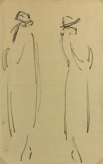 Fashion Original Art - Drawing - Fashion, French, 1922