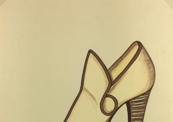 Fashion Original Art - Shoe Design, A. de Bodinat, c.1990