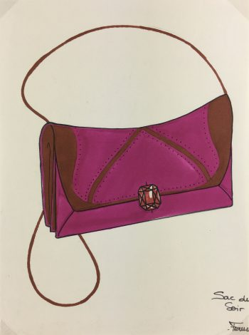 Fashion Original Art - Bag Design, French, c.1980