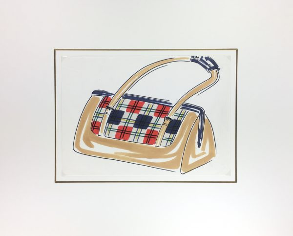 Fashion Original Art - Bag Design, French, c.1980